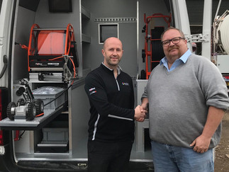 MW Waste Drainage take delivery of their new Mini-Cam CCTV Vehicle