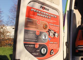 Demo Van Doors Open Up Advertising Opportunity