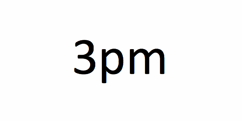 3pm Session