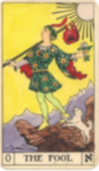 The Fool Tarot Card Golden Tarot Ink Clu