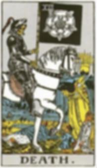 Death Tarot Card Tattoo