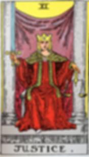 Justice Tarot Card Tattoo