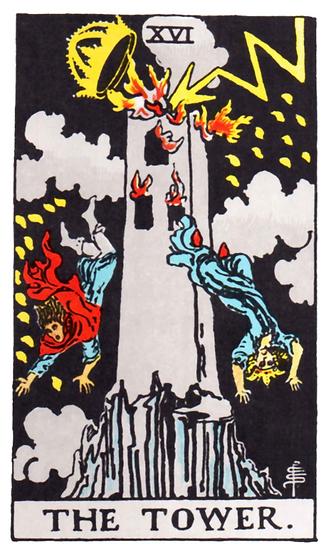 The Tower Tarot Card Tattoo