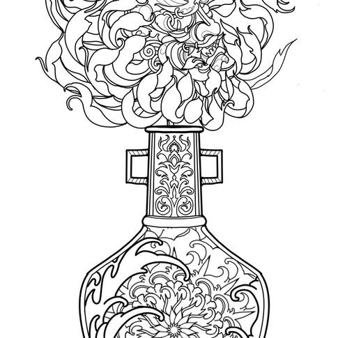 Hannya Chrysanthemum Vase