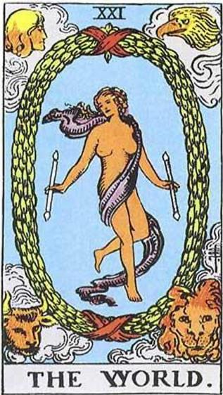 The World Tarot Card Tattoo