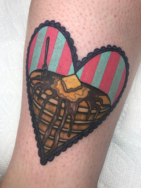 color pancake tattoo