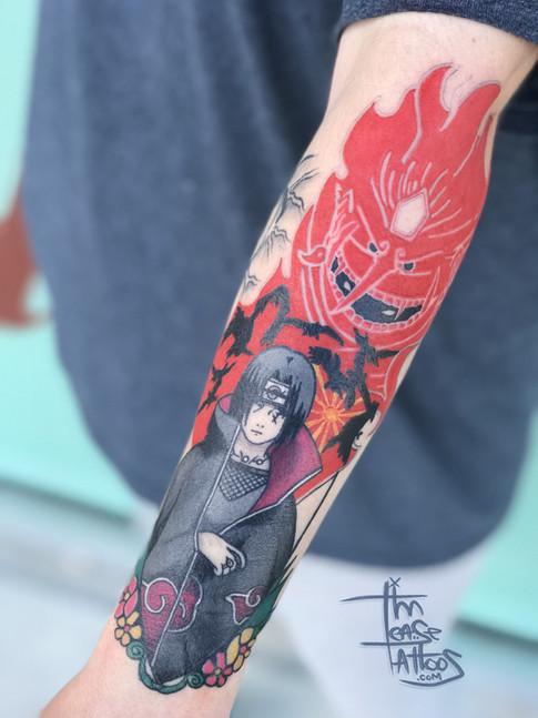 Color anime tattoo