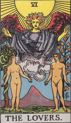 The Lovers Tarot Card Tattoo