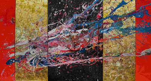 Magical Interdimensional Creatures of Floating Worlds in the Beauty of Cosmos