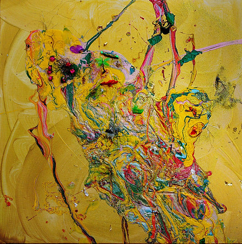 Magical Emerging Life of the Earth, 2014, 30x30in