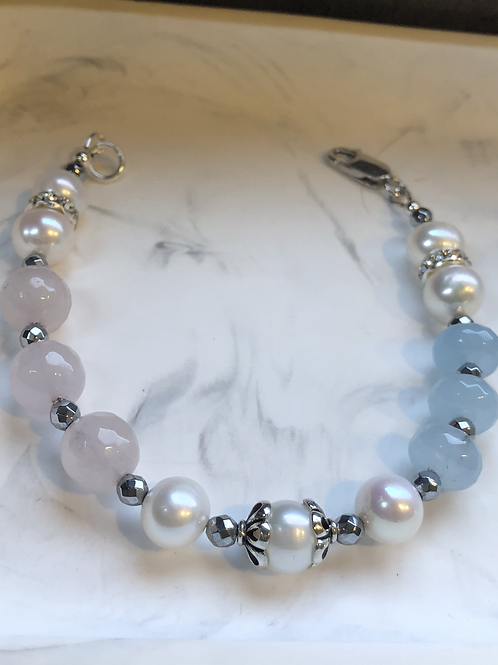 Fresh Water Pearl with Gewstones