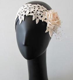 Lace Leaf Rose Headband