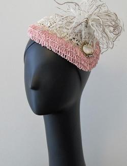 Pink Fringe Cocktail Hat