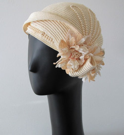 Ivory Pearl Beaded Hat