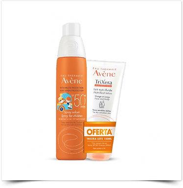 Avène Solar Spray Criança SPF 50+ c/ Oferta Trixera Nutrition Leite Nutri-Fluido