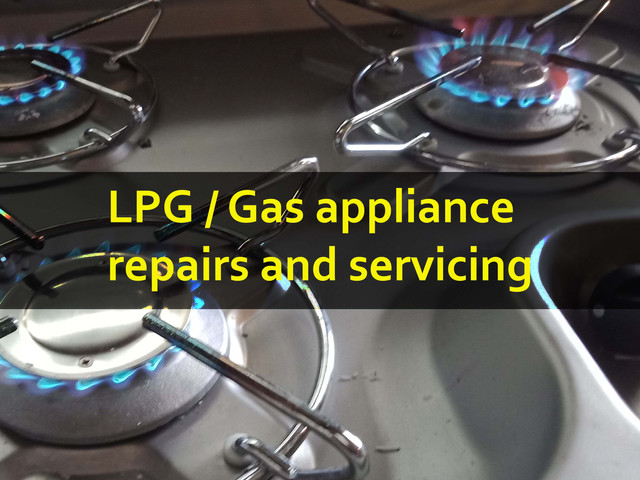 gas appliances repairs and servicing