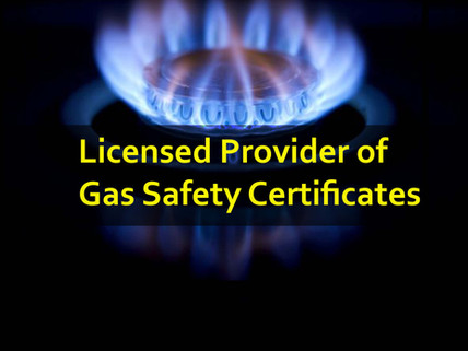 Licensed provider of gas safety certific