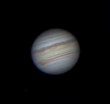 Animação da rotação parcial do planeta Júpiter