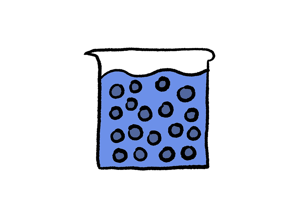 Just a beaker of water.