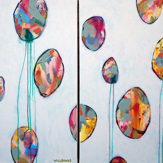 Balloons Diptych I