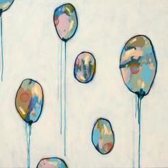 Red Pinwheel Balloons