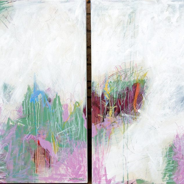 There's a Quiet Storm and That Is You Diptych