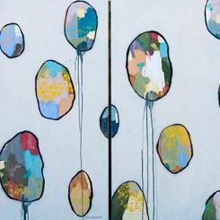 Sun Dappled Balloons Diptych