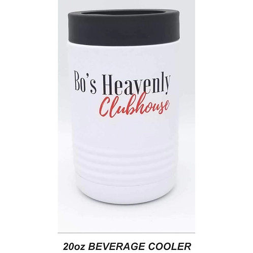 Bo's White Beverage Cooler: 20 oz