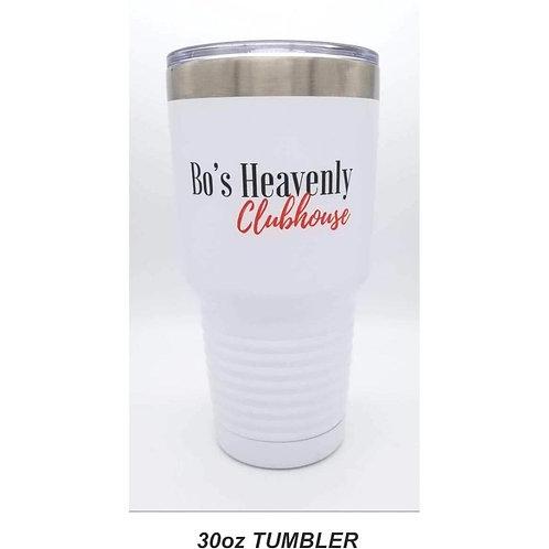 Bo's White Tumblers: 30 oz