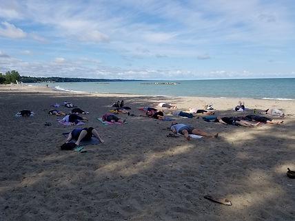Beach Yoga by Lake Erie