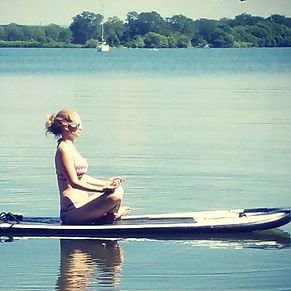 Paddleboard Yoga on Lake Erie