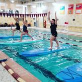 Paddleboard Yoga at the Glenwood YMCA in