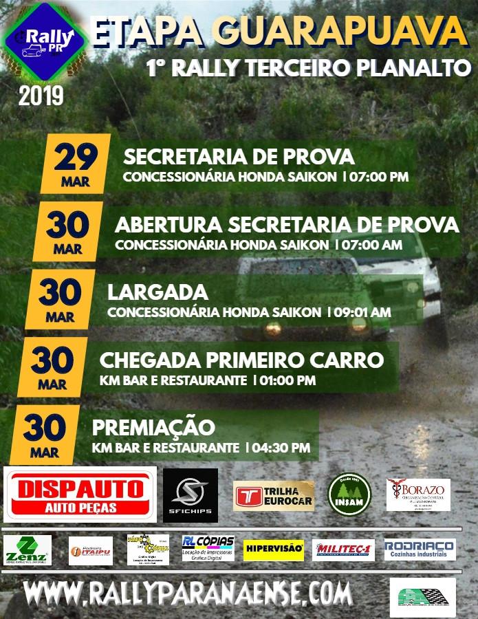PROGRAMAÇÃO ETAPA GUARAPUAVA 30/03/19