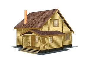 Проекты домов из оцилиндрованного бревна и бруса площадью от 100 м2 до 200 м2
