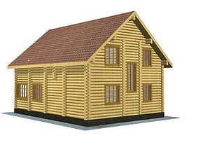 Строительство деревянных домов. Проект DD-182,2 Дом из оцилиндрованного бревна, Алтайского КЕДРА, Бруса