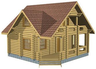 Проекты домов из оцилиндрованного бревна и бруса площадью до 100 м2,