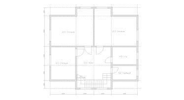 Строительство деревянных домов. Проект DD-222,6 Дом из оцилиндрованного бревна, Алтайского КЕДРА, Бруса