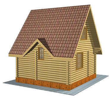 Строительство деревянных домов. Проект DD-53 Дом из оцилиндрованного бревна, Алтайского КЕДРА, Бруса