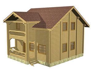Проекты домов из оцилиндрованного бревна и бруса площадью от 100 м2, строительство каттеджей,