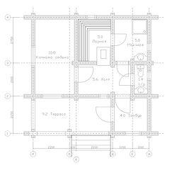 Строительство деревянных домов и бань. Проект DB-41 Дом и Баня из оцилиндрованного бревна, Алтайского КЕДРА, Бруса