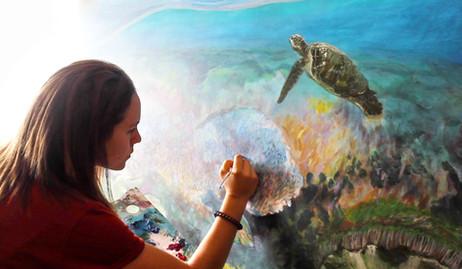 portrait painting reef