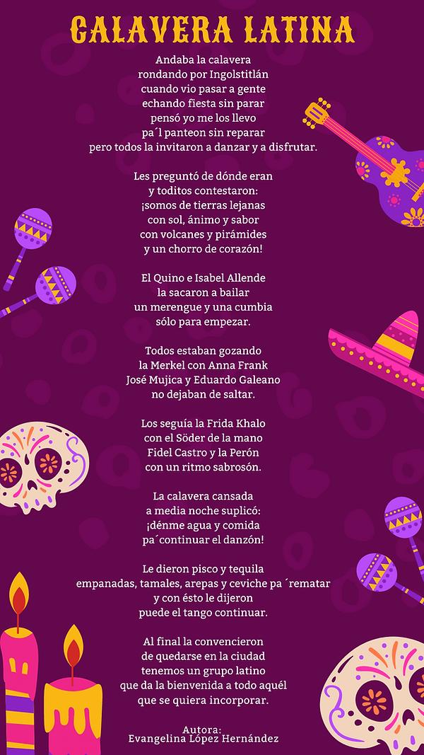 Calavera Latina - Evangelina López Hernández