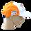 Thumbnail: Boné ANGR Wind Orange