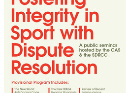 """Sport Dispute Resolution Centre of Canada & Court of Arbitration for Sport host """"Fostering Integ"""