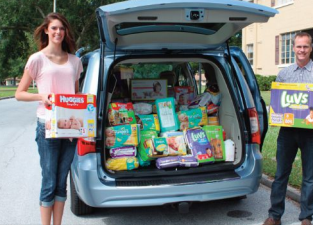 Rased over $27k in diapers and wipes for FBCH
