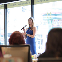 Speaking at the February Women Supporting Women Confence