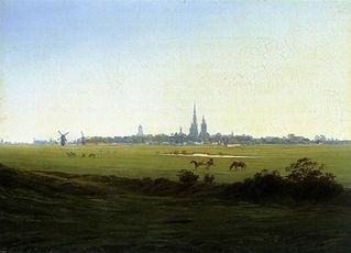 greifswald view, Caspar david Friedrich.