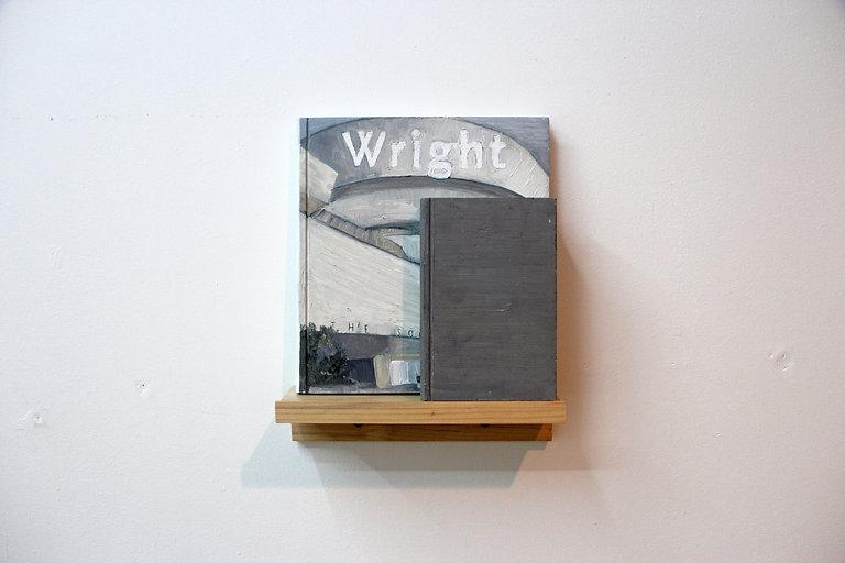 4.Wright: Whitman, oil and wax on cedar,
