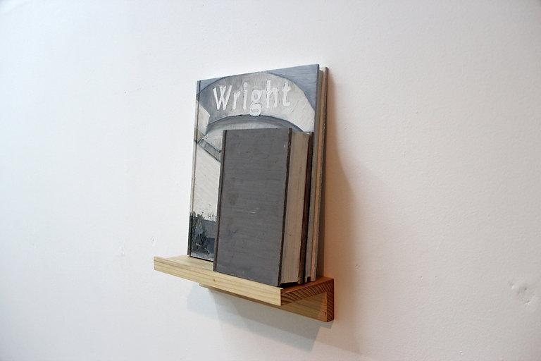 5.Wright: Whitman, oil and wax on cedar,