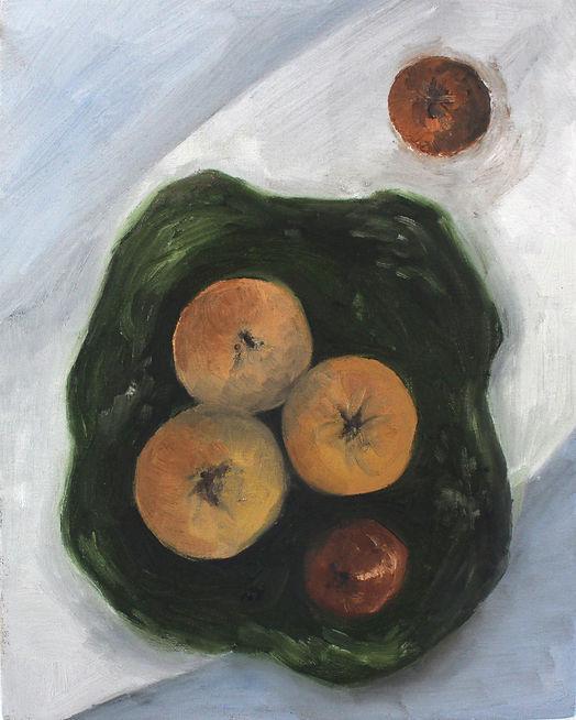 Renata De Bonis, 4+1, oil and wax on lin